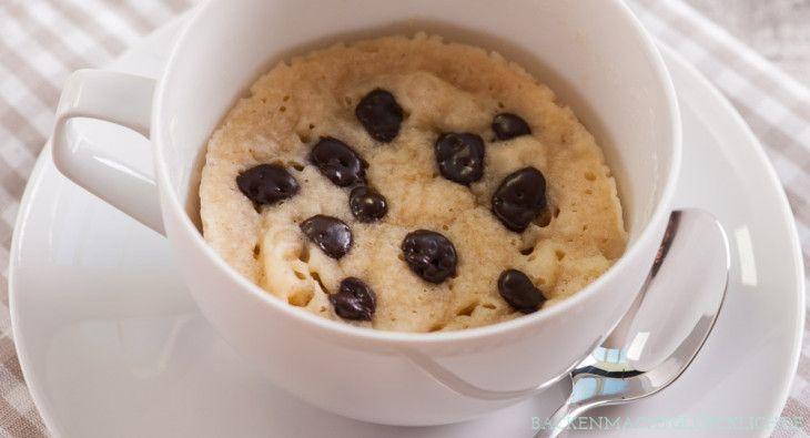 Backen macht glücklich | Veganer Mikrowellen-Tassenkuchen ohne Ei | http://www.backenmachtgluecklich.de