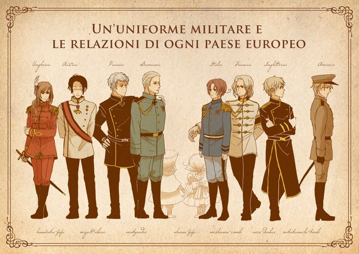 "rinuchan90:  "" Military uniforms from WW1. Left - Central Powers. Right - Triple Entente.  """