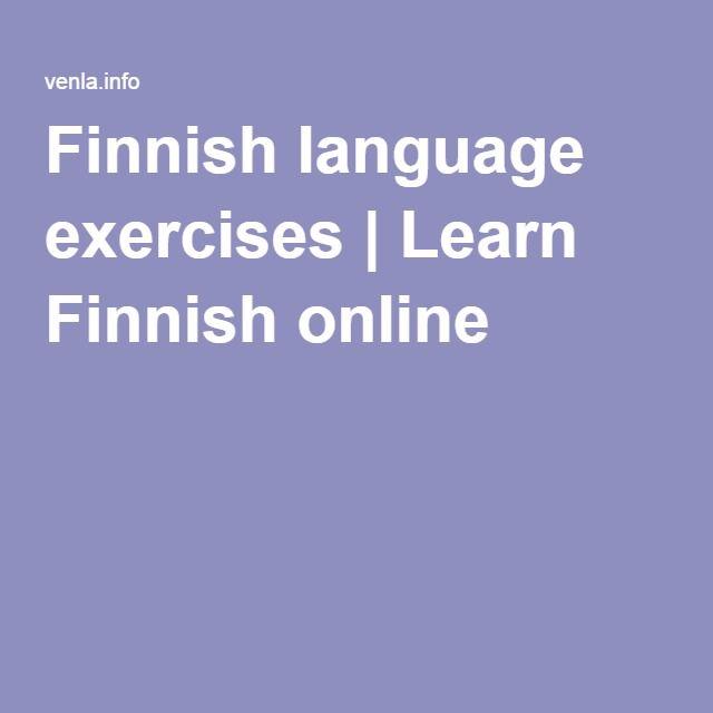 Finnish language exercises | Learn Finnish online