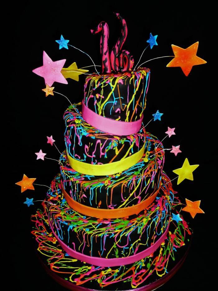 Neon Colored Birthday Invitations for adorable invitations sample