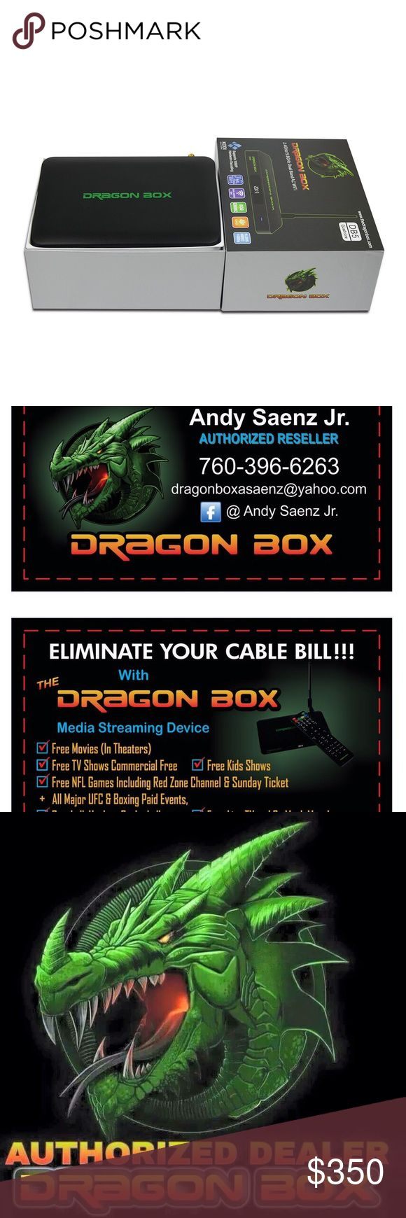 Dragon Box With this box you get all Sunday Ticket and Red Zone NFL games, all PPV Fights from Boxing UFC to WWE. You get all Sports channels MLB, NBA, NHL, NASCAR, Soccer you name you get it. You also get all movies and Tv shows, everything and anything on demand. And you get all of this in High Definition 1080 or 720 and the box is also 4K compatible. And you get Live Tv major network channels Other