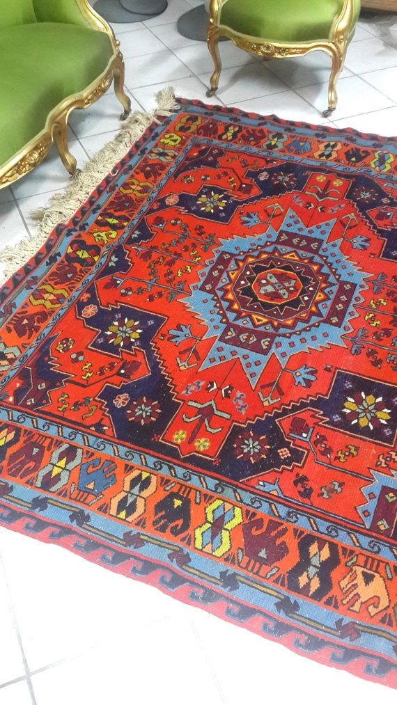 Check out this item in my Etsy shop https://www.etsy.com/listing/211658149/vintage-antique-caucasian-kilims-sumac