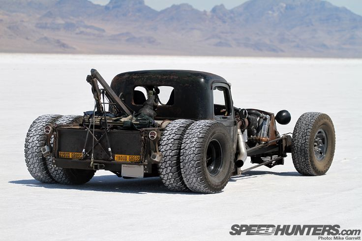 Rat rod Wrecker ... I must go to the salt flats one day  ... So knarly