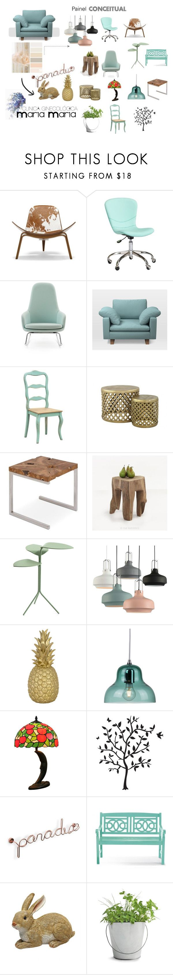 """VERDE MENTA"" by lorena-jacob on Polyvore featuring interior, interiors, interior design, casa, home decor, interior decorating, Design Within Reach, PBteen, Normann Copenhagen e West Elm"