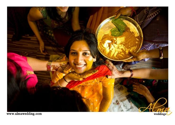 The Haldi ceremony for the new bride