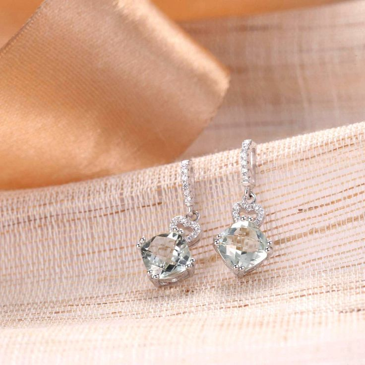 UneJoux Sterling Silver Effie Earrings With Prehnite - UneJoux