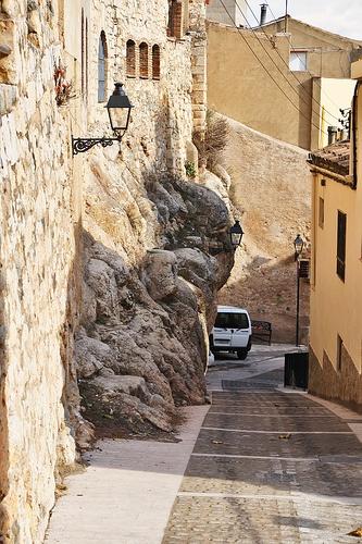 The bedrock. L'Espluga de Francolí, Conca de Barberà (Catalunya - Catalonia)