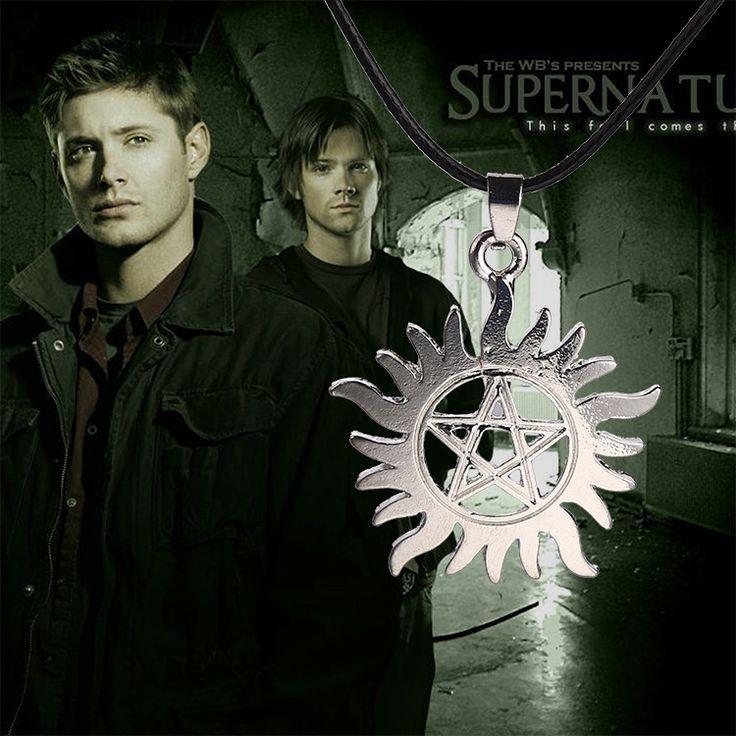 Daren Wholesale Supernatural Pentacle Letter Pendant Necklace For Men The TV series Supernatural Sun Star Necklace & Pendant