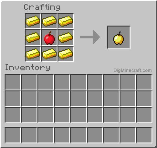как сделать яблоко нотча в майнкрафт #4