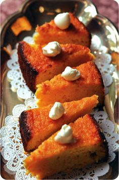 MIDDLE EASTERN ORANGE CAKE (OMG this sounds amazing!!) No flour is used !! *use sugar sub