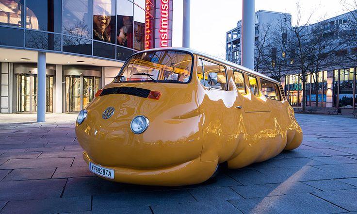 """ERWIN WURM:   Wurm ist ein herausragender Vertreter von international geschätzter Modern Art. Die Arbeiten Wurms zeichnen sich durch einen humorvollen, ironisch-kritischen Blick auf das alltägliche Leben aus. Der Curry Bus vor dem Museum, ein zu einem """"fetten Würstelstand"""" umgebauter Volkswagen-Bulli aus den ... Link: http://www.bold-magazine.eu/erwin-wurm/  #CurryBus, #ErwinWurm, #KunstmuseumWolfsburg, #Sculptures"""