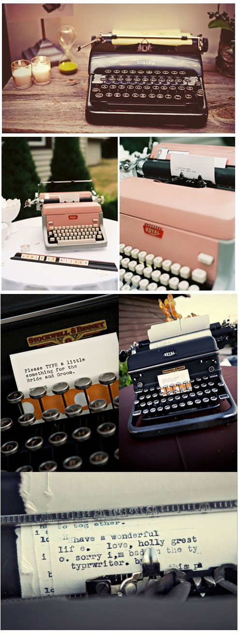 Type-it-out, A Vintage Guest Book Idea