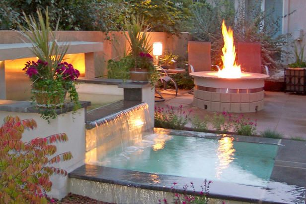 Fire and Water: Water Feature, Fire Pits, Idea, Outdoor Living, Dream, Outdoor Room, Backyard, Firepit, Outdoor Spaces