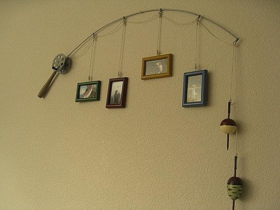This would be perfect for displaying fishing pictures of Grandpa's, Dad's or Mom's...so adorably cute. Great in the Man Cave or little boys room.