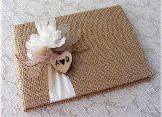 Livro de assinaturas casamento DIY