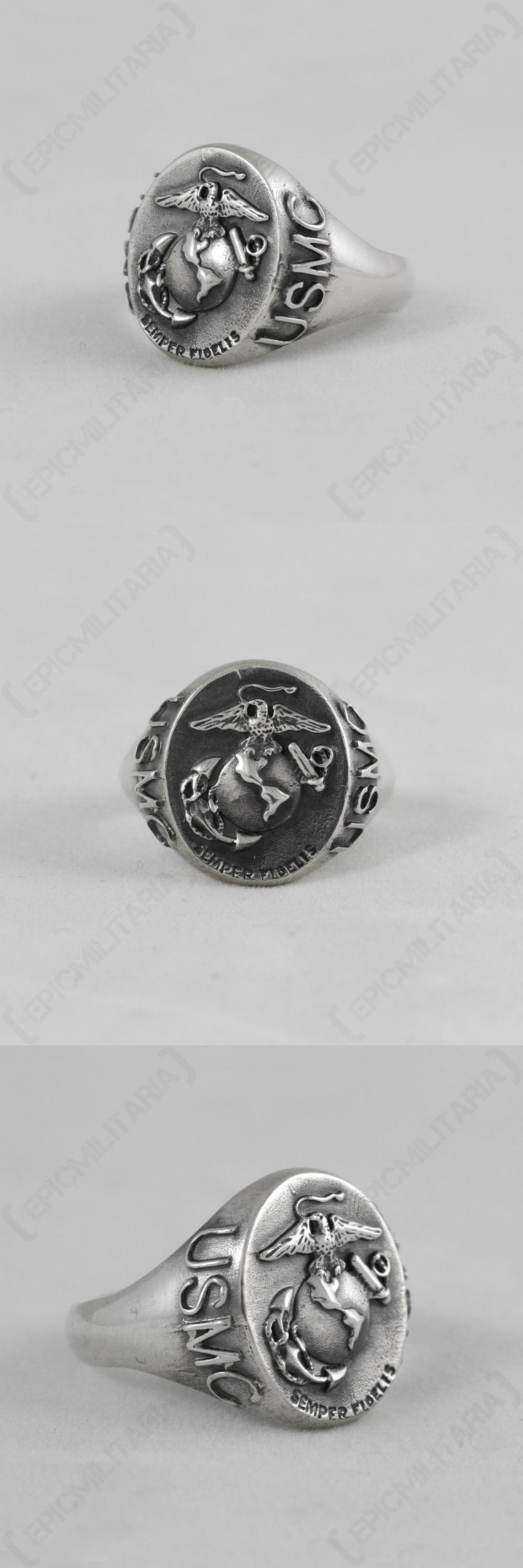 Waist Packs and Bags 181380: Ww2 Us Marine Corps Ring - Repro American Silver Jewellery Semper Fidelis -> BUY IT NOW ONLY: $66.9 on eBay!