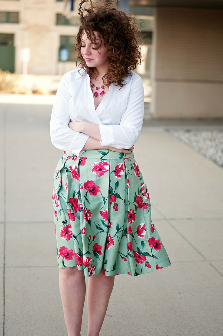 Best 25 Floral Skirt Outfits Ideas On Pinterest Spring
