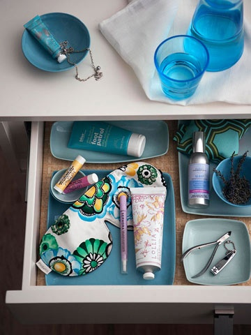 Turn a nightstand drawer into a bedside spa