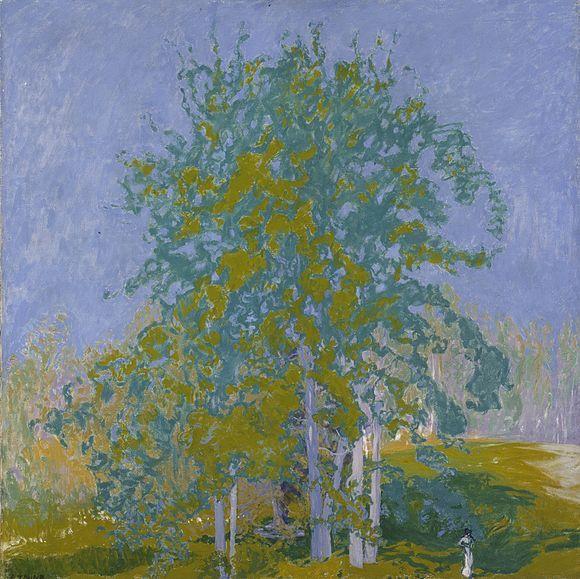 Ellen Thesleff: Koristeellinen maisema (1910) | Dekorativt landskap | Decorative Landscape Ateneumin taidemuseo | Konstmuseet Ateneum | Aten...