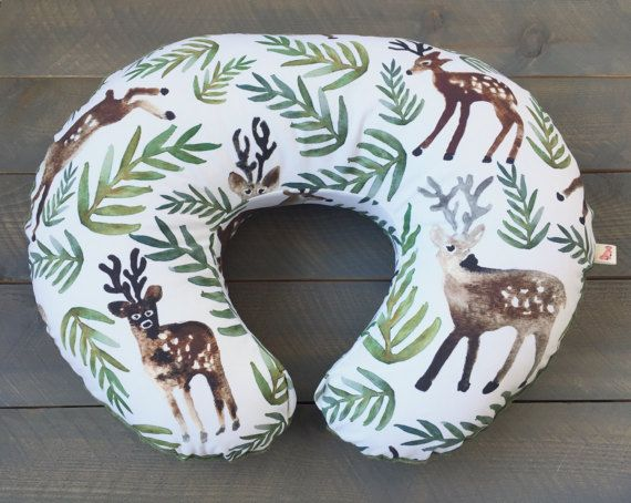 Nursing Pillow Cover Deer Watercolor Woodland for Boppy