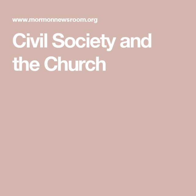 Civil Society and the Church