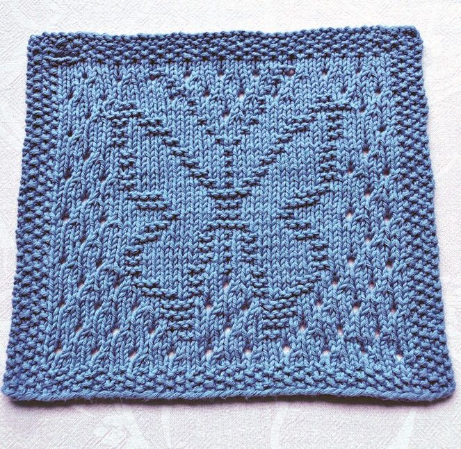 Free Knitting Pattern for Lacy Butterfly Cloth | Dishcloths ...