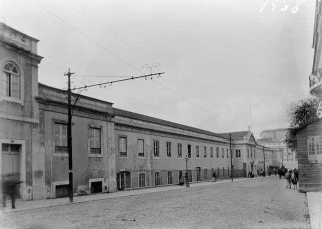 Real Fábrica das Sedas, c. 1907-08 Rua Escola Politécnica junto ao Rato