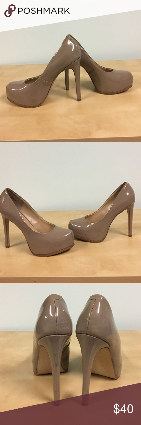 Kelsi Dagger Linzy Patent Leather Pumps Kelsi Dagger Linzy Patent Leather Pumps. Greyish color. Used. Hidden platform. Kelsi Dagger Shoes Heels