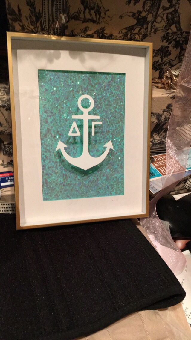 Delta gamma picture frame craft for little