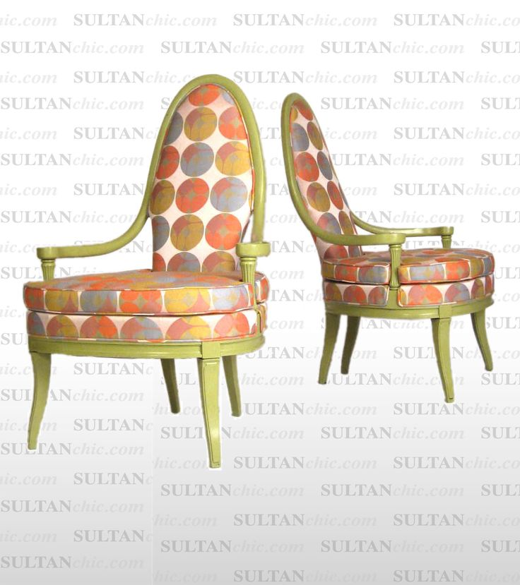 All upholstered furniture pieces featured here are one of a kind creations of artisan designer Albert Leon Sultan founder of WWW.SULTANCHIC.COM  #midcentury #retro #vintage #upholstery #wingchair #upcycle #couture #furniture #art #design #interiordesign #home #love #pastel #sultanchic #chic #fashion #lime #chair #funky #pop