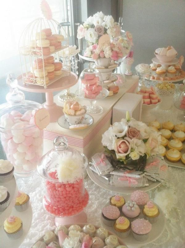Flowers – Pretty Pink Vintage Wedding Girl Party Shower Idea