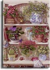 ART ~Janet Kruskamp: Flower Cupboard