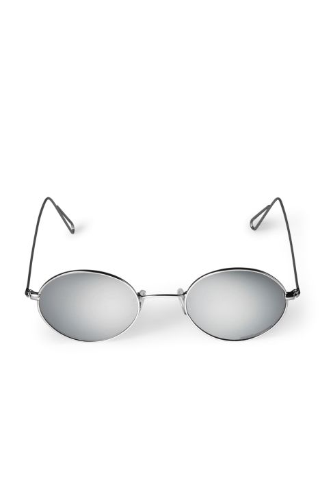 Weekday Trip Oval Sunglasses in Silver