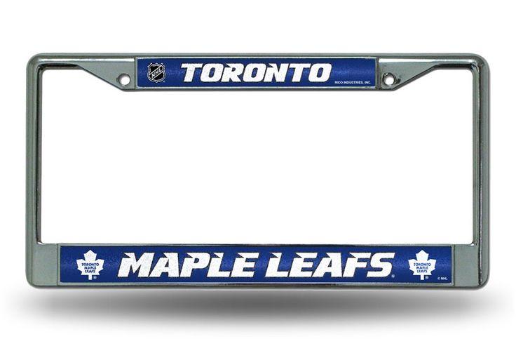 Toronto Maple Leafs Bling Chrome License Plate Frame