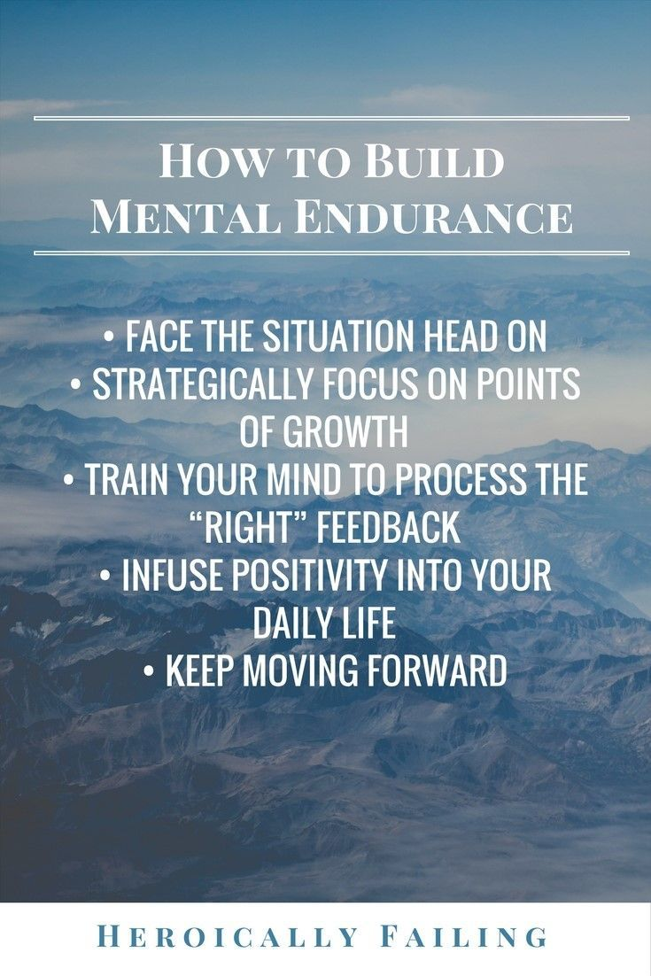 How to build mental endurance. Heroically failing.