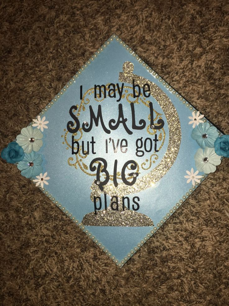 "End cap decoration idea! ""I am small, but I have big plans"" in a globe"