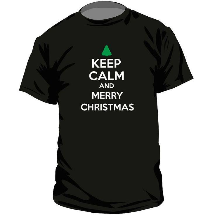 Tee shirt Noël : Keep Calm and MERRY CHRISTMAS