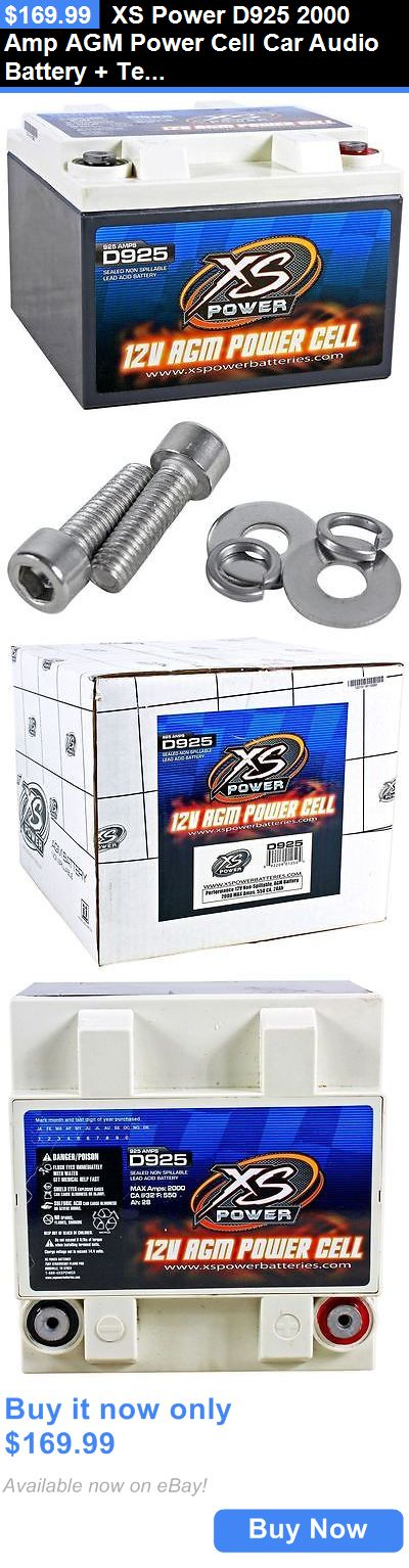 Other Car A V Installation: Xs Power D925 2000 Amp Agm Power Cell Car Audio Battery + Terminal Hardware BUY IT NOW ONLY: $169.99