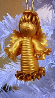 Creative Recycling - Craft and Fun: Chores Christmas angels pasta