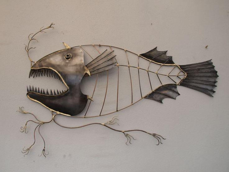 angler fish sculpture