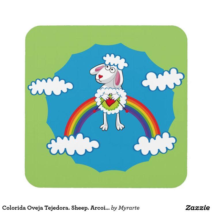 Colorida Oveja Tejedora. Sheep. Arcoiris, rainbow. Posavaso Decorativo Coaster, home decor, decoración. Producto disponible en tienda Zazzle. Decoración para el hogar. Product available in Zazzle store. Home decoration. Regalos, Gifts. Link to product: http://www.zazzle.com/colorida_oveja_tejedora_sheep_arcoiris_rainbow_drink_coaster-163733397608476339?CMPN=shareicon&lang=en&social=true&rf=238167879144476949 #posavaso #coaster #oveja #sheep