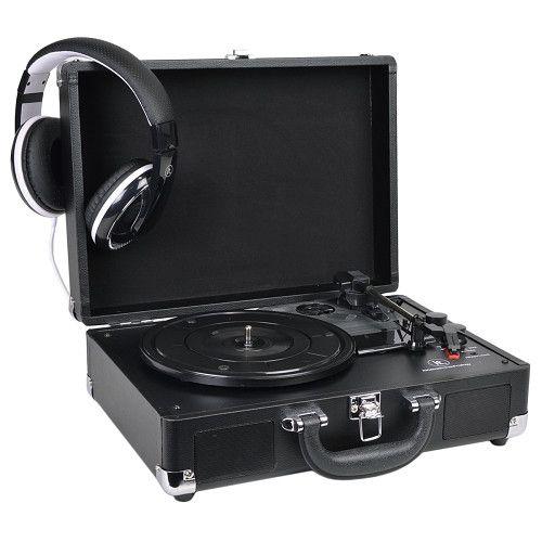 INNOVATIVE ITVS-550BT BK Bluetooth Turntable Record Player (Black)