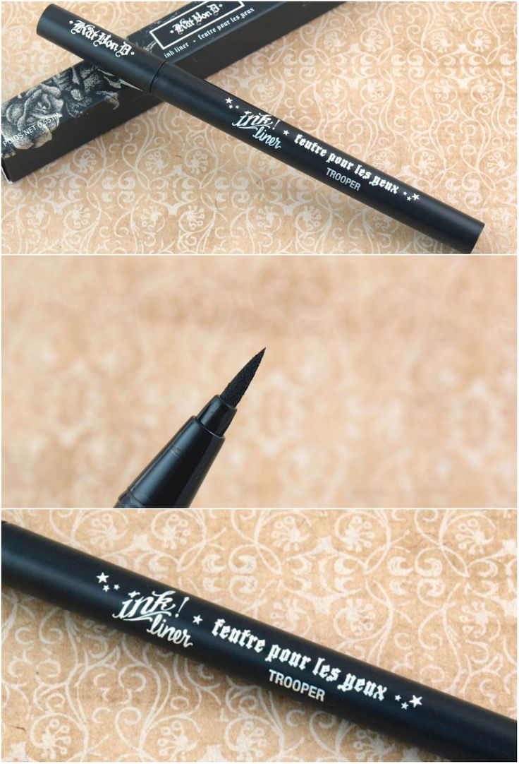 "Kat Von D Ink Liner in ""Trooper"" Review and Swatches"