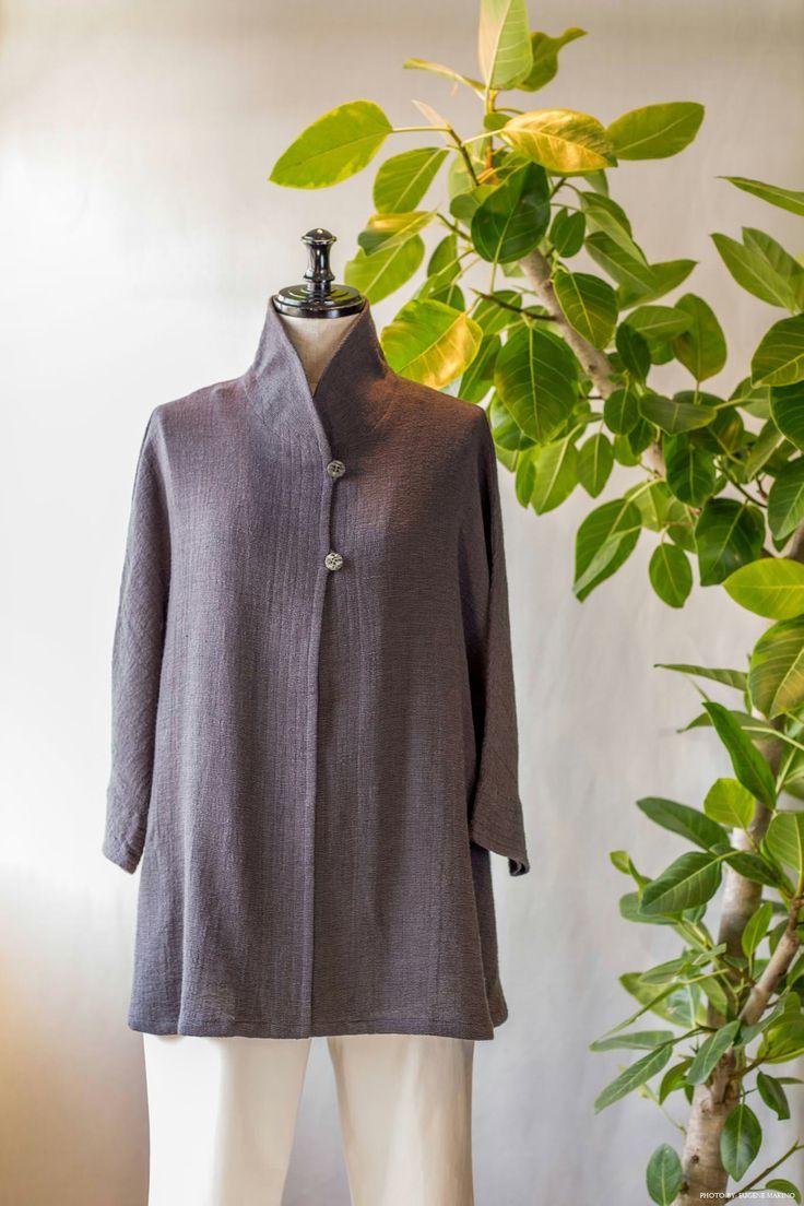 GRAPE Motomachi / Shawl Collar Jacket #jacket #cotton #linen #shawlcollar #grapemotomachi