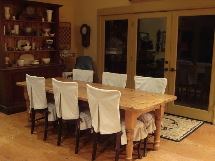 Appealing Classic White Dining Chair Slipcovers Design Ideas For Rustic Room Decoration