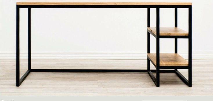 escritorio estilo industrial en hierro y madera joy market