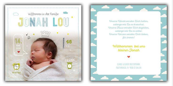 Jonah: 148x148 mm // Karte ist auch in ihrer Wunschfarbe erhältlich