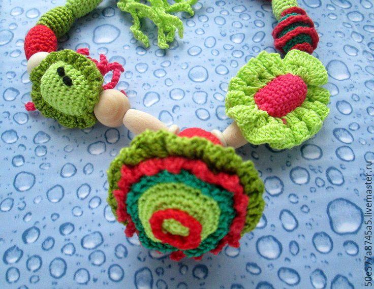 """Купить Слингобусы""""Морские обитатели""""рыбка медуза море осьминог погремушка - комбинированный, слингобусы, игрушка, красный, зеленый http://www.livemaster.ru/50e577a8745a5"""
