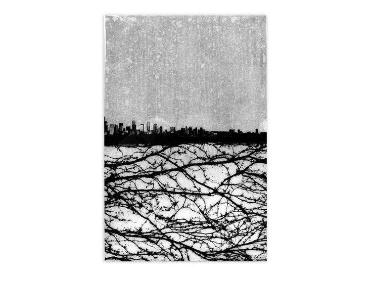 BISCO SMITH - BALANCED - 24 x 36 - mixed media on wood w/ resin finish 2013