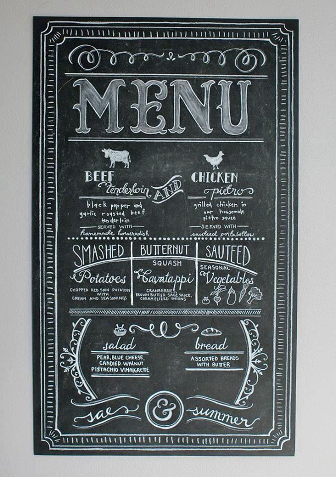 Nice chalkboard design
